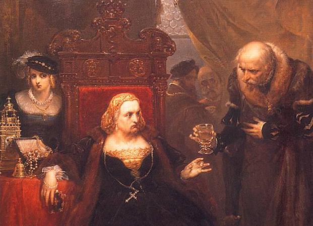 detail of poisoning of queen bona